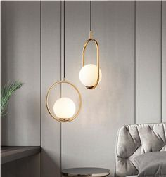 This set of lights gives the impression of a floating lighting structure. Living Room Lighting, Bedroom Lighting, Home Lighting, Interior Lighting, Modern Lighting, Globe Pendant Light, Modern Pendant Light, Art Deco Pendant Light, Bathroom Pendant Lighting
