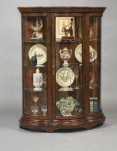 pulaski mantel curio cabinet by pulaski 25w halogen lightening front
