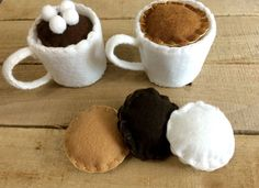Coffee Shop Felt Food Play Set by ComeWhatMayAndLoveIt on Etsy