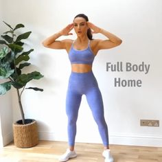 No equipment full body workout for beginners who workout at home. No equipment full body workout for beginners who workout at home. Hiit Workout Routine, Full Body Workout At Home, Gym Workout Videos, Butt Workout, Exercise Routines, Exercise At Home, Full Body Workouts, Kids Workout, Exercise Chart