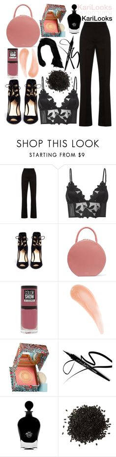 """P&B Coffee"" by karilooks ❤ liked on Polyvore featuring Marni, Fleur du Mal, Paul Andrew, Mansur Gavriel, Maybelline, Benefit and EB Florals"