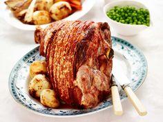Traditional roast pork leg with crackling | Recipe | Australian Pork Roast Recipes, Dinner Recipes, Cooking Recipes, Cooking Fish, Yummy Recipes, Pork Leg Roast, Crackling Recipe, Japanese Idol, Christmas Lunch