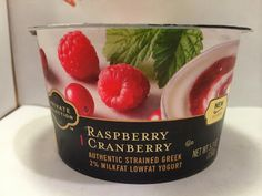Crazy Food Dude Review: Private Selection Raspberry Cranberry Greek Yogurt