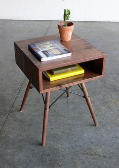 Mid Century Modern Inspired Side Table. $399.00, via Etsy.