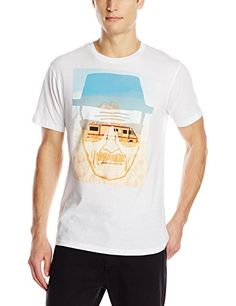 6fe054eec Breaking Bad Mens Heisenberg Face and RV T-Shirt, White, Small