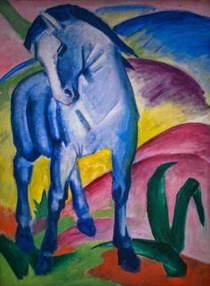 Franz Marc - Blue Horse, 1911 at Lenbachhaus Art Gallery Munich Germany