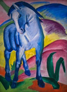 Franz Marc - Blue Horse, 1911 at Lenbachhaus Art Gallery Munich Germany