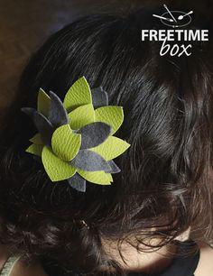 Tuto DIY : réaliser une broche à cheveux en simili cuir