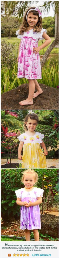 Hand Painted Hawaiian Girl Spring Easter Dress #etsykids #etsyspecialt #integritytt @EtsyLoveChild @EarthRT @EtsyRT   https://www.etsy.com/listing/202206297/