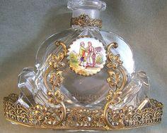 Perfume Bottle Czech IRice w/Filigree and by EastCoastElegance1