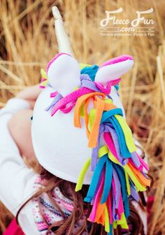 This Fleece Unicorn Hat Pattern is a free sewing project. Perfect for colder weather your child will love the magical look of this fleece sewing project. Fleece Hat tutorial comes in sizes baby to adult so everyone can have the joy that is being a magical Fleece Projects, Sewing Projects For Kids, Sewing For Kids, Free Sewing, Sewing Crafts, Sewing Ideas, Sewing Diy, Sewing Hacks, Fabric Crafts