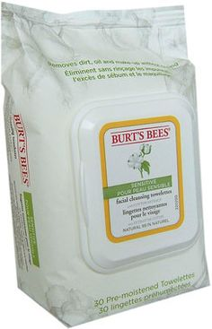 Burt's Bees Lingettes Nettoyantes Visage pour Peau Sensible | Ecco Verde