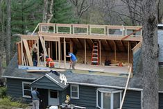 Framing to Raise the Roof Attic Loft, Cabin, House Styles, Frame, Home Decor, Home, Picture Frame, Cabins, A Frame