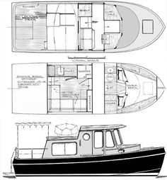 25' Coastal Cruiser  trailerable motoryacht  www.boatdesigns.com
