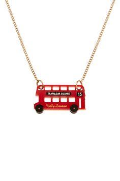 London Bus Necklace, £30 http://www.tattydevine.com/shop/collections/collaborations/london-bus-necklace.html