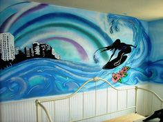The girls want a surfer girl bedroom, this would make it perfect!