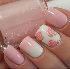Opting for bright colours or intricate nail art isn't a must anymore. This year, nude nail designs are becoming a trend. Here are some nude nail designs. Pink Nail Art, Cute Nail Art, Fancy Nails, My Nails, Shellac Nails, Acrylic Nails, Nail Polish, Pink Manicure, Nails 2017