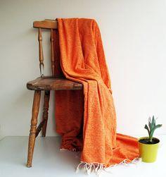 Cotton & Velvet Handwoven Orange Soft Warm Blanket,Seat Cover,Bedspread Naturel Ecofriendly Sofa,Seat Covers on Etsy, $54.35 CAD