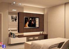 Inspiração para painel de TV da suíte  Projeto by AT Arquitetura | @homeluxo