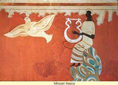 5 Ancient Black Civilizations That Were Not in Africa- Minoan_fresco Creta, African Origins, African History, Ancient Greece, Ancient Egypt, Santorini, Fresco, Minoan Art, Bronze Age Civilization