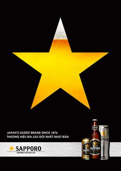 Poster Showcase on Behance Sapporo Beer, Beer Poster, Japan, Behance, Kawaii, Movie, Wine, Collection, Ideas
