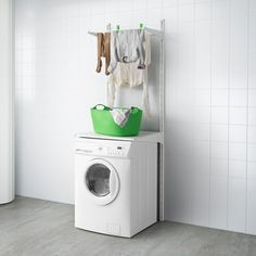 IKEA - ALGOT, Wall upright/shelves/drying rack, The parts in the ALGOT series can be combined in many different ways and easily adapted to your needs and Ikea Algot, Wall Storage, Bathroom Storage, Linen Storage, Bathroom Small, Bathroom Shelves, White Bathroom, Bathroom Furniture, Home Furniture