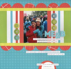 "I love how this layout looks very wintery - even almost Christmasy - without using any ""christmas"" or ""winter specific"" papers. Creative Memories Candy Shop Scrapbooking Paper Shape Maker System"