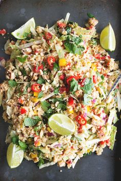 Vegan Thai Quinoa Salad with Peanut Lemongrass Dressing - a healthy quinoa salad…