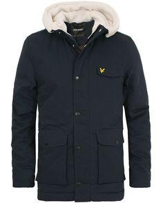 Lyle & Scott Shearling Line Jacket Navy i gruppen Design A / Jakker / Forede jakker hos Care of Carl (14260611r)
