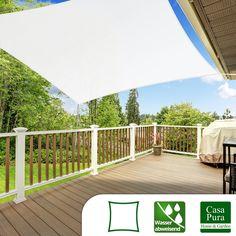 Windschutzsegel wasserabweisend | Quadrat 3x3m | 5 Farben | Dayton.de