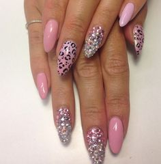 Pink stilletonails