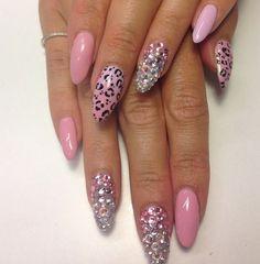 Pink stilletonails