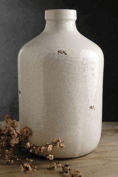 White Stoneware Jug Vase 11in (Save 40%)
