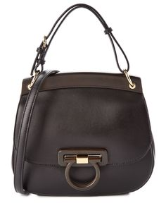 Spotted this Salvatore Ferragamo Hermada Leather Shoulder Bag on Rue La La. Shop (quickly!).