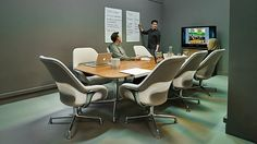 Coalesse SW_1 Lounge Chairs and Conference Tables create a great conference room in Scape's office.