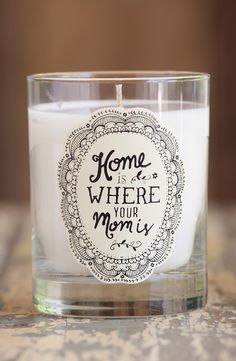 Adding a touch of vintage-inspired charm to the abode with this sweet and touching candle.