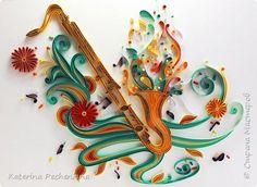 Картина панно рисунок Квиллинг Яркое настроение Бумага Картон фото 1