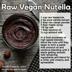 Raw Vegan Nutella. Best thing I've ever made. I put this on everything.