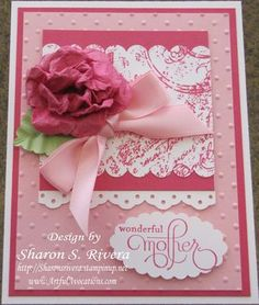 Beautiful dry embossed and die cut Mother's Day card