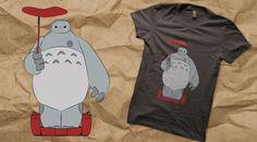 Tonari no Baymax...   Baymax from Big Hero 6 meets Totoro from My Neighbor Totoro :)
