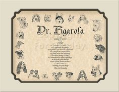 Single Name  for a Veterinarian Personalized by CreationsByFrannie, $18.95