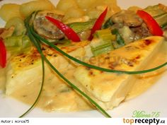 Šmakoun (Shmaky) se zeleninou a smetanovou omáčkou