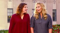Having a ball: Peabody Award-winner Amy Schumer (with the help of Vanessa Bayer) satirizes her skyrocketing career in a series of new promos for her upcoming Saturday Night Live hosting gig this weekend