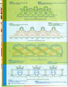 crochet borders diagrams