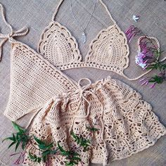 Excited to share this item from my shop: Crochet Bikini Set & Skirt , Swimsuit ,Bathing Suit , Festival Clothing . Source by swimsuits Mode Crochet, Crochet Daisy, Knit Crochet, Crochet Summer, Gypsy Crochet, Motif Bikini Crochet, Crochet Crop Top, Crotchet Swimsuit, Crochet Tops