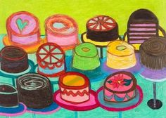"""""""Cakes, """" after Thiebaud."""