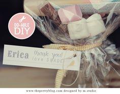 Bridesmaid's gifts : Martini glass, lip-gloss, nail polish, mini perfume bottles, a cute handbag mirror & some candy.... anything to make a girl feel pretty.