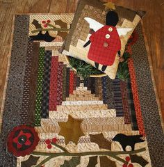 Log Cabin Christmas new design listed on my website..... #newpatterns #logcabinchristmas #quiltsbycheri
