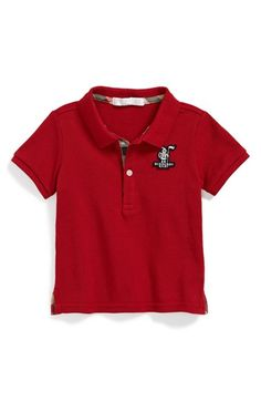 Free shipping and returns on Burberry 'Palmer' Piqué Polo (Baby Boys) at Nordstrom.com. An iconic Burberry knight patch brands a classic polo cut from piqué cotton.