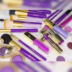 All purple brushes